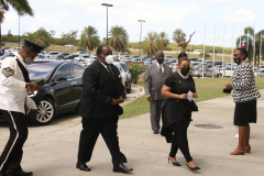 Public Safety Minister arrives at the funeral service