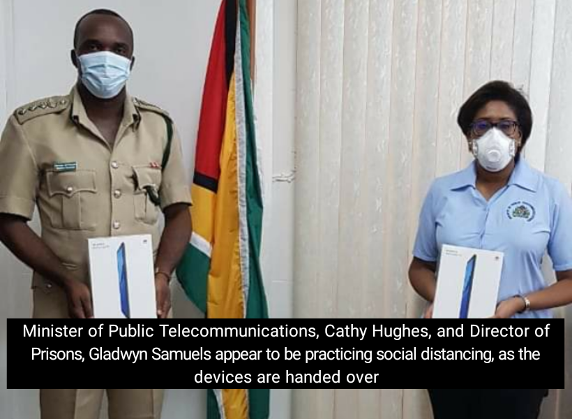 Guyana gov't gives prisoners tablet computers to keep in touch with their families amid COVID-19