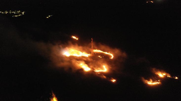 Firefighters tackle major bush fire