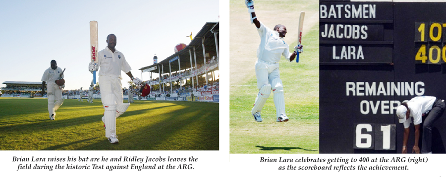 Jacobs Relives Being At The Crease For Lara's Record-breaking 400