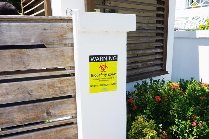 Guests self-quarantine at Hodges Bay Resort