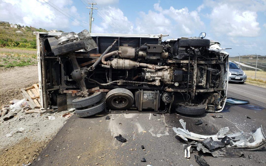 Multi-car smash-up on newly repaved Sir George Walter Highway