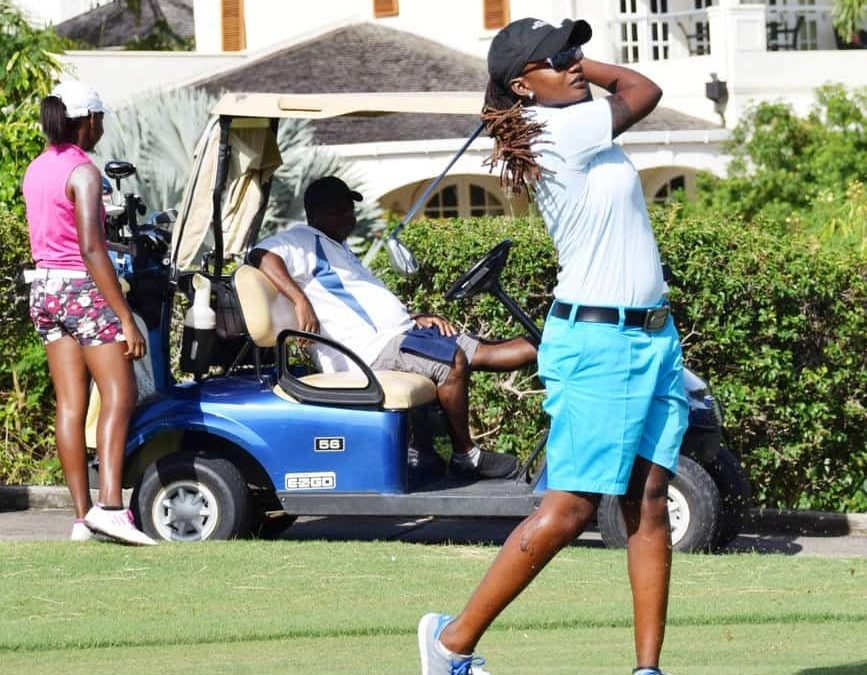 Top female golfer said challenging male counterparts made her a better player