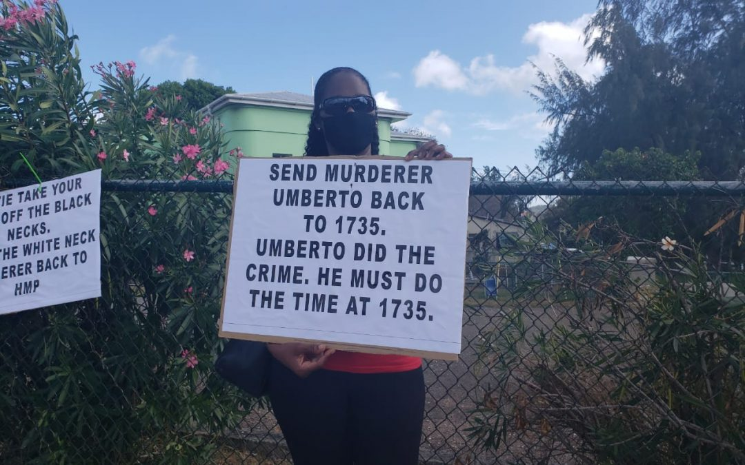 Protestors call for transfer of convicted murderer