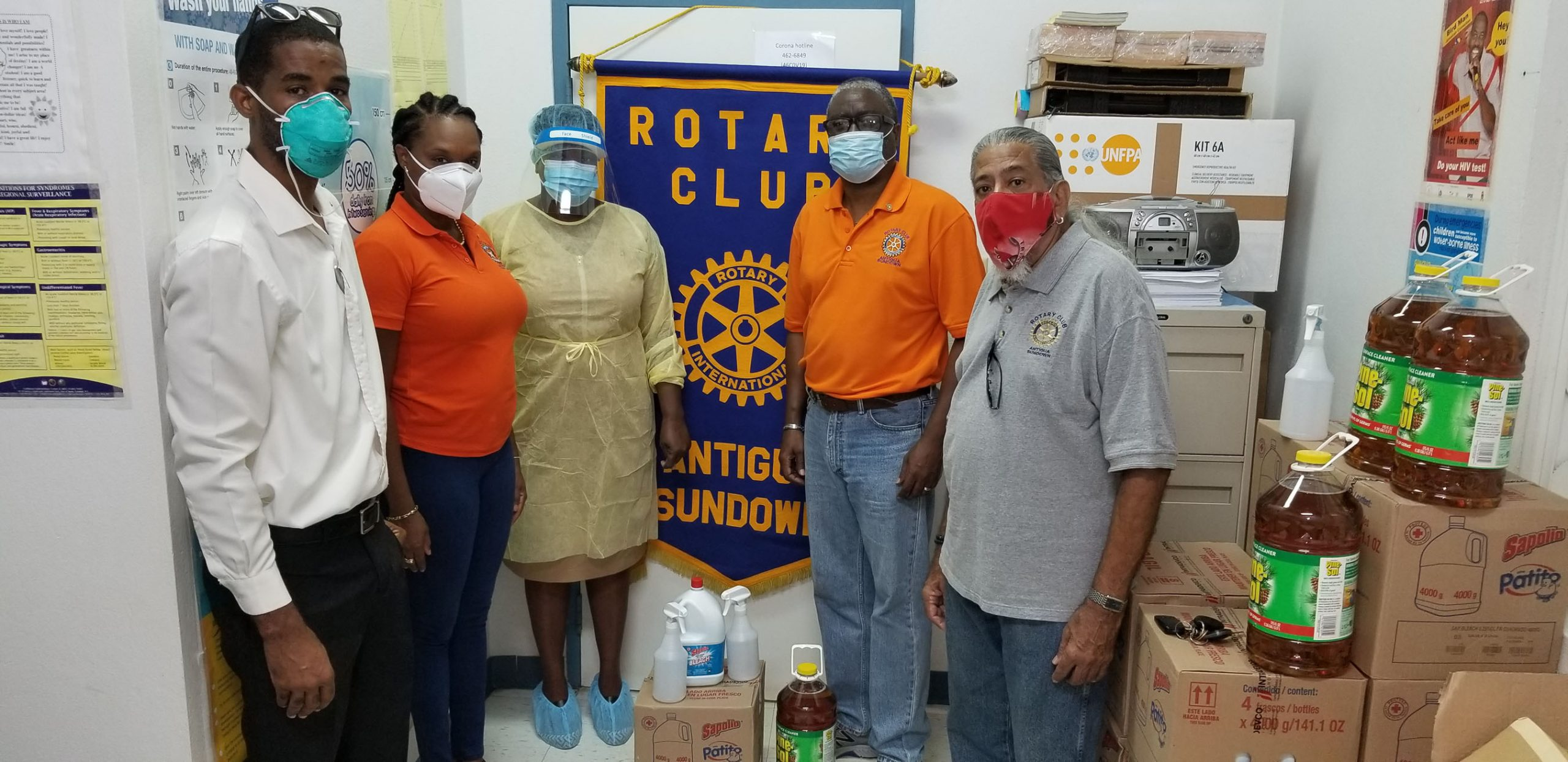 Rotarians donate cleaning supplies to boost Covid-19 fight ...