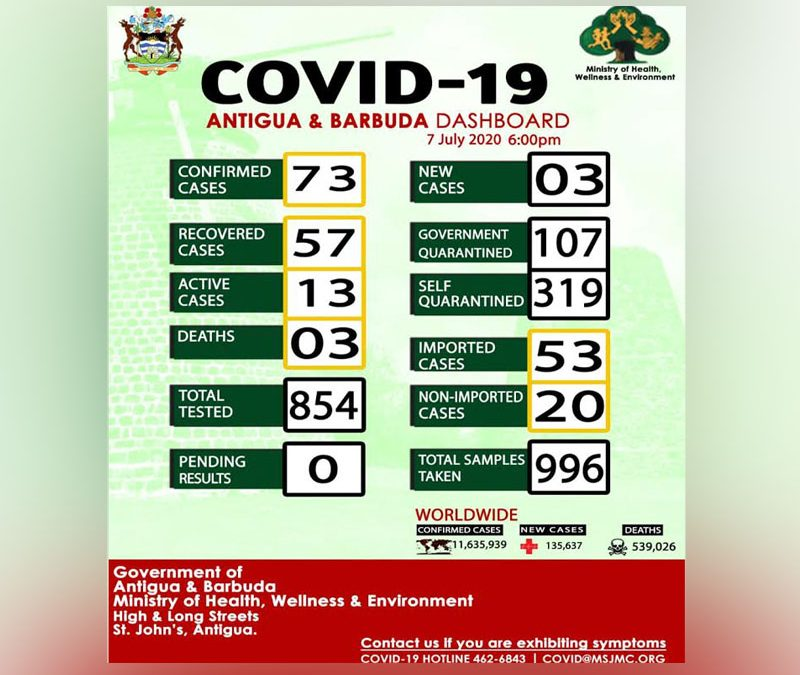 Country's Covid total climbs to 73