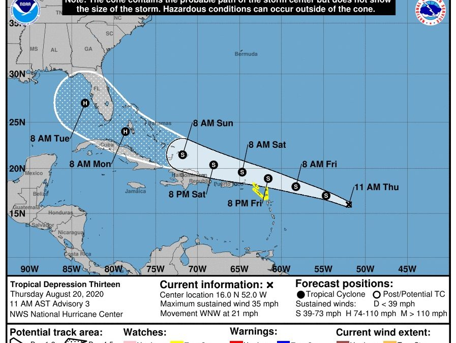 Tropical storm watch in effect for Antigua and Barbuda