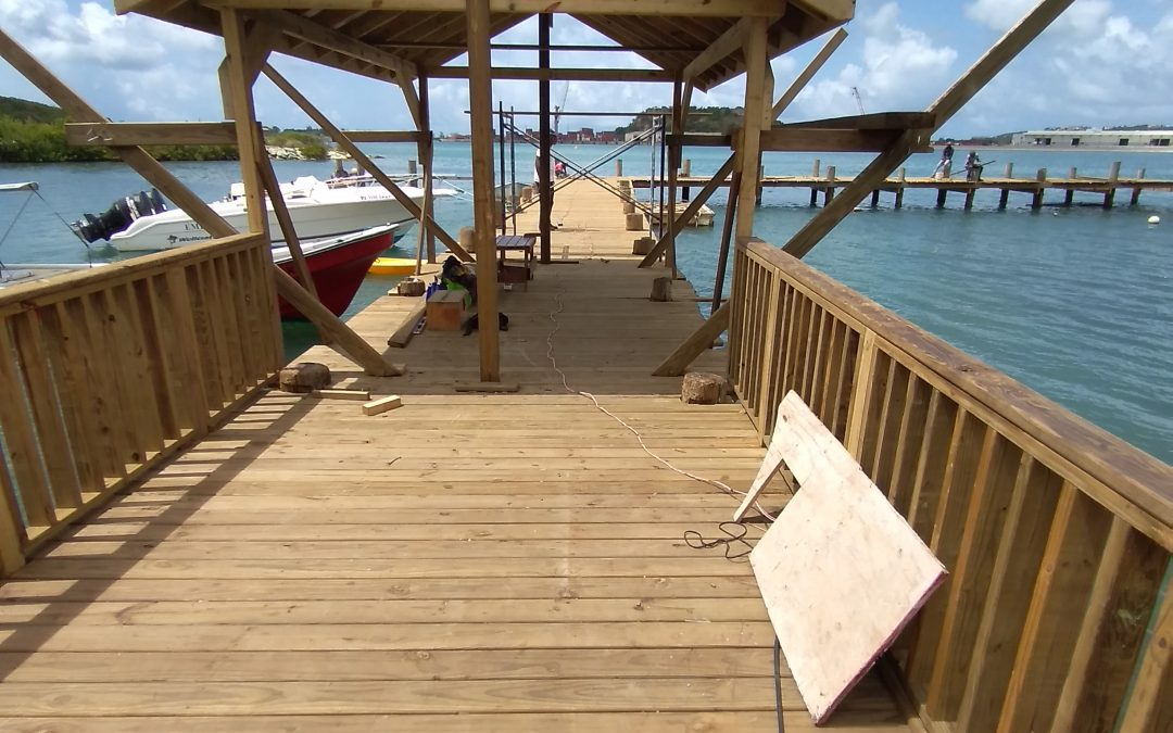 Restoration of Keeling Point Pier nears completion