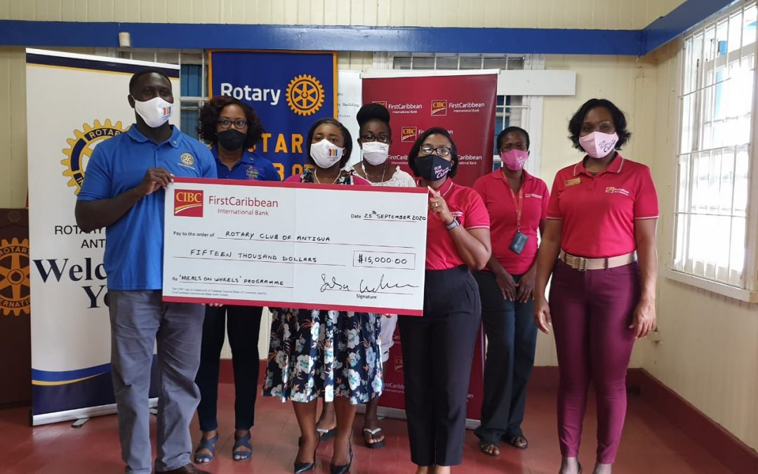 CIBCFirst Caribbean International Bank supports RCA's Meals on Wheels Programme