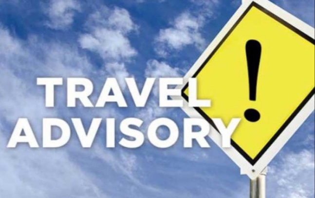 New travel advisory for incoming visitors