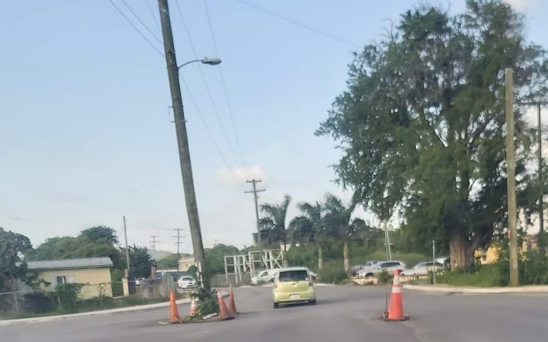 Utility pole on Friars Hill Road removed