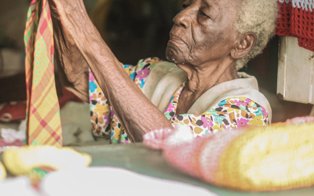 Today a retired nurse, midwife and active seamstress turns 90