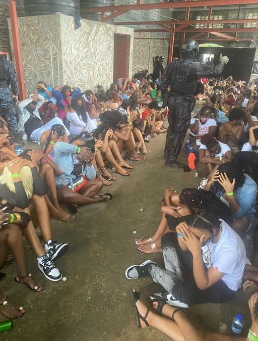 TRINIDAD: 250 detained as police raids party