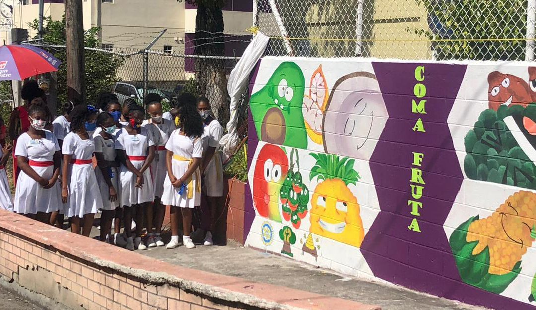 Mural brings awareness to childhood obesity