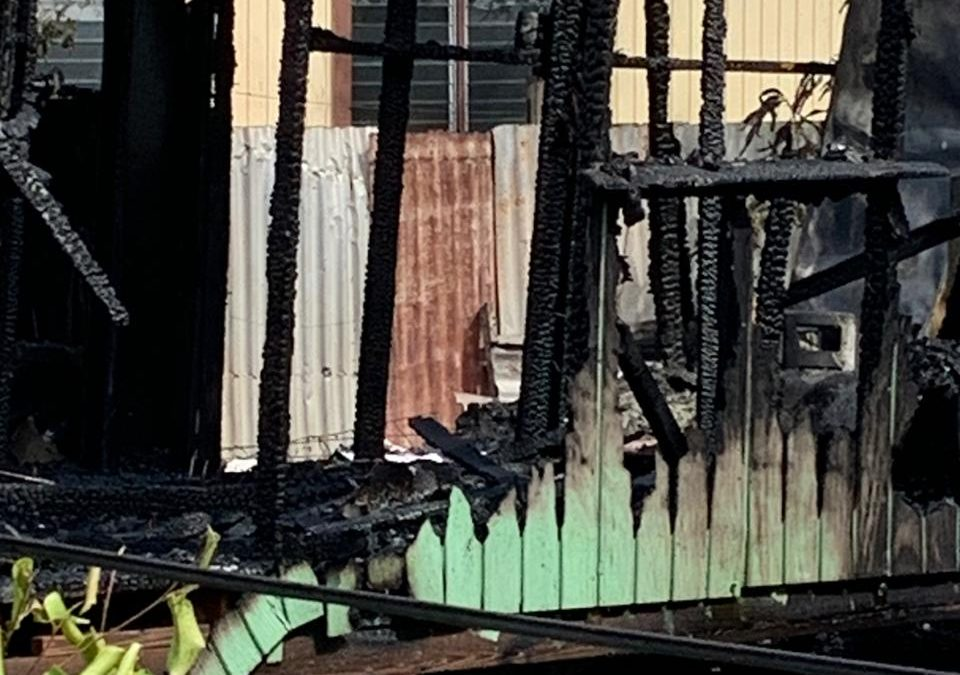 Two families lose homes in fire