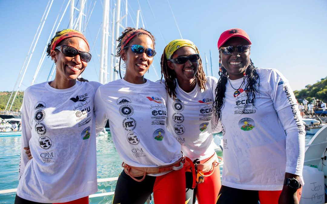 Team Antigua Island Girls give back to mark second anniversary of historic row
