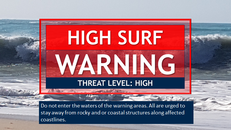 High Surf Warning In Effect For Antigua and Barbuda