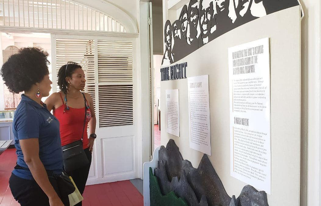 Art students join in commemoration of one-year milestone of slave history project