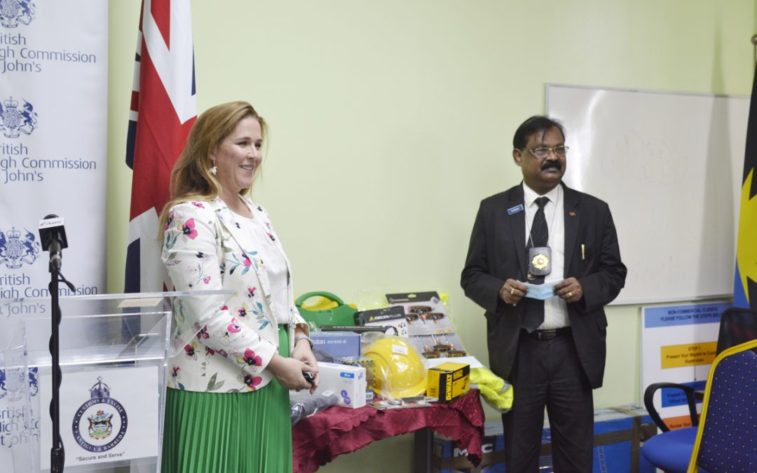 Customs receives $15,000 equipment donation from UK's Border Force