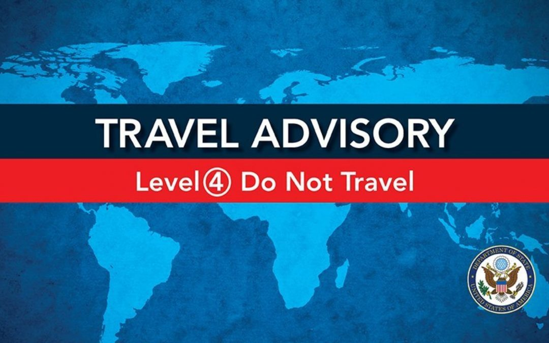 U.S Advisory Level of 4: Do Not Travel, remains in place for Antigua, Barbados, Saint Lucia, and St. Vincent