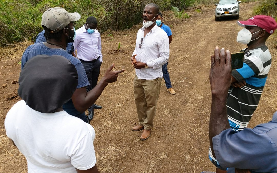 Farmers protest 'occupation' of land in Old Road