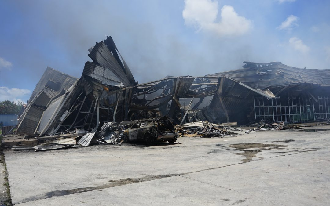 Fire razes major supermarket to the ground – and leaves dozens out of work