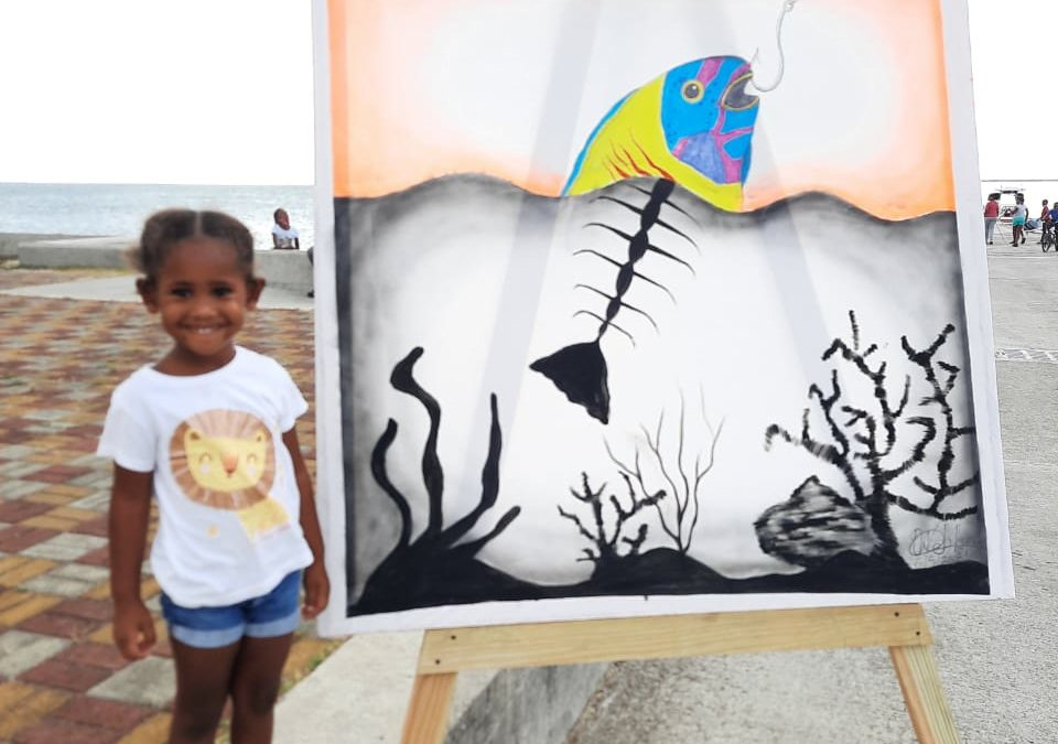 Barbuda NGO raises awareness of the ocean through art